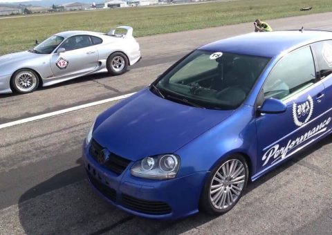 Toyota Supra Vs. VW Golf R32 Is An Epic 2