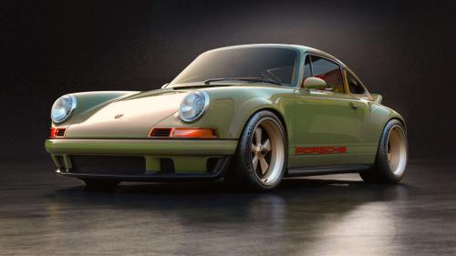 "1990 Porsche 911 Covered with green ""Absinthe"" Like a Modern Supercar"