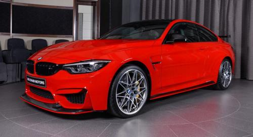 Ferrari-Red-BMW-M4-Easy-to-Stand-Out-On-the-Road-1