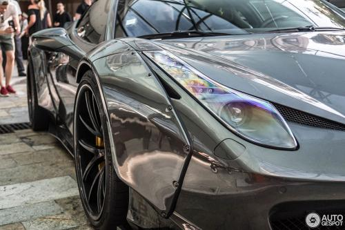 Met-A-Gray-Metallic-Liberty-Walk-Ferrari-458-on-Monaco-Street-2